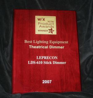"Leprecon LDS-610 wins ""WFX New Products"" award!"